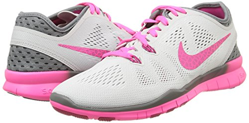 new arrival 2707f f7d79 ... Nike Frauen Free 5.0 Running Sneaker Pure Platinum   Fireberry-cooles  grau-pinkes Pow ...