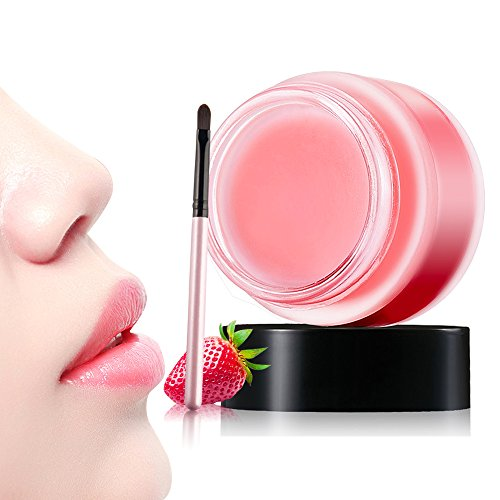 Hisight Moisturizing Sleeping Lip Mask Lip Film Balm Exfoliating Lip Scrub Lip Care Beauty Makeup Accessories ,Best Solution For Chapped And Cracked Lips (pink) (Beauty Pink Makeup)