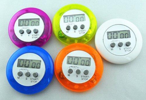 Round Digital Kitchen Timer - DierCosy Mini Round Digital Electronic Magnetic Kitchen Timer