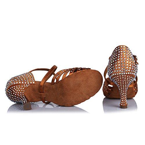 Dita Piedi Strass Marrone Modello Latino HIPPOSEUS da dei Ballo Scarpe Donna ITAFCT459 Standard Le Apri YwqPfzH