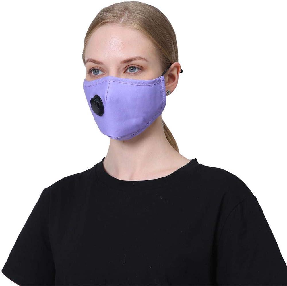 NINGNETI Reutilizable y Lavable Faciales visera con Carb/ón Activado Filtro Antipolvo Antivaho Protector Faciales para Deportes al Aire Libre NKZ-0428A33 Pack 1 unidades