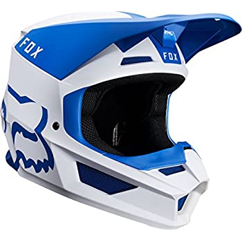 2019 Fox Racing V1 Mata Off-Road Motorcycle Helmet - Blue/White / X-Large