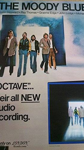 (1978 Moody Blues Octave London Records record store promo poster)