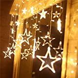 Curtain String Lights, KEEDA 8 Modes 138 LEDs Smart Fairy Star Window Decor Lighting for Christmas, Party, Wedding, Patio, Garden, Home Indoor