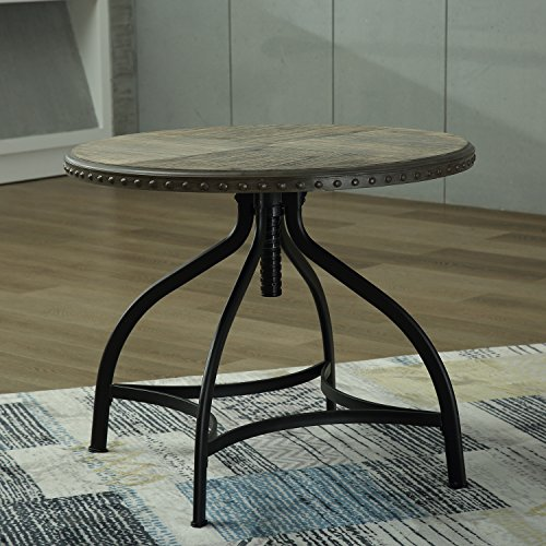 Modern Bar Counter Height Table Stool Kitchen Breakfast Adjustable Solid Wood Dining Set (Table) (Breakfast And Bar Set Stools Table)