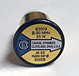 Coaxial Dynamics 82003 Element 0 to 25 watts for 2-30 MHz - Bird Compatible