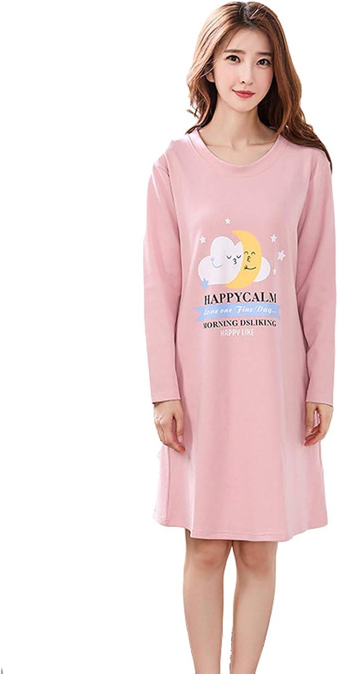 Pijama Mujer Algodon Otono Manga Larga camisón Mujer Ropa de ...