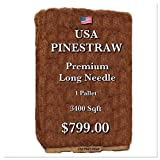 USA Pine Straw - Pine Needle Mulch - Premium Long Needle - Covers 3400 Sqft