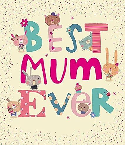 Mejor mamá nunca Tarjeta de día de la madre: Amazon.es ...