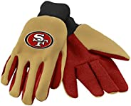 NFL San Francisco 49ers Work and Utility Gloves, One Size, Team Color