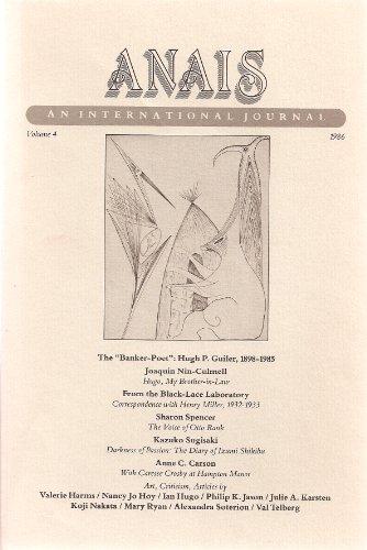 Anais An International Journal: Vol. 4, 1986