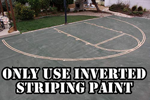 (Easy Court Premium Basketball Court Marking Stencil Kit (NO Paint))