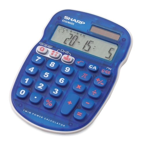 Sharp ELS25 Quiz Calculator - 10 Character(s) - LCD - Battery/Solar Powered