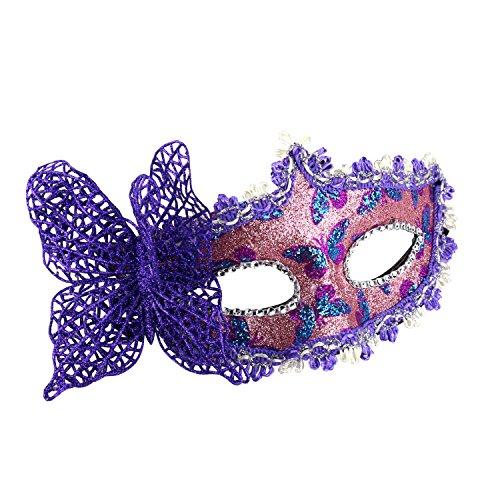 Masquerade Mask Venetian Butterfly Shiny Mardi Gras Mask