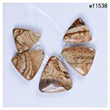 24-32mm Picture jasper Triangle pendant beads set for necklace jewelry design Number:w11538
