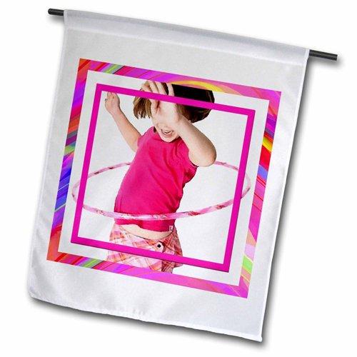 "3dRose fl_18337_2 ""Hula Hoop Girl"" Garden Flag, 18 x 27"""