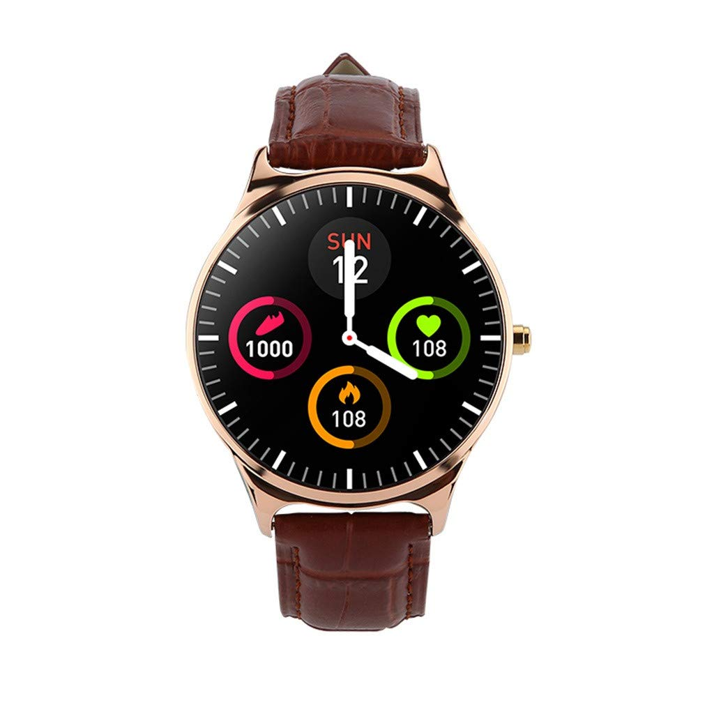 Jialili for iOS for Android CJ69 Multifunction Waterproof IP67 Sport Smart Watch Blood Pressure Heart Rate Monitor Gold by Jialili