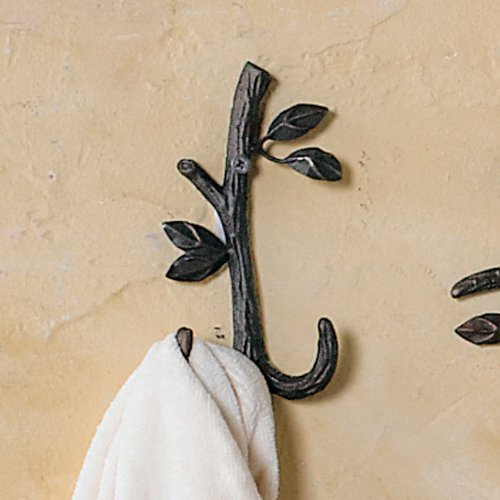 Nature Walk Double Wall Mounted Towel Hook (Iron Double Hook)