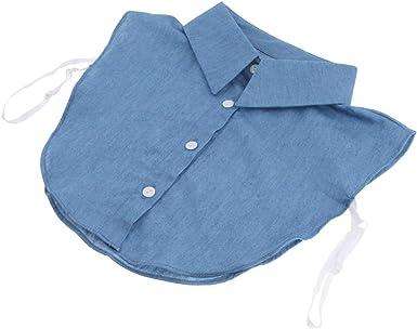 Baoblaze Cuello Falso de Algodón Desmontable Dickey Collar Blusa Media Camisas Cuello