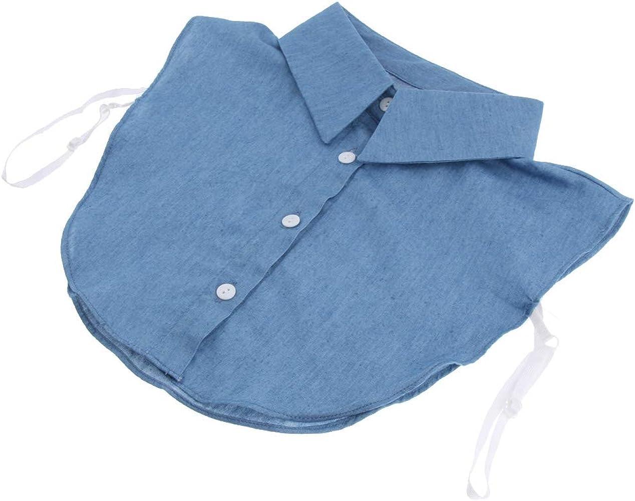 Baoblaze Cuello Falso de Algodón Desmontable Dickey Collar Blusa Media Camisas Cuello - Azul, Única: Amazon.es: Ropa y accesorios