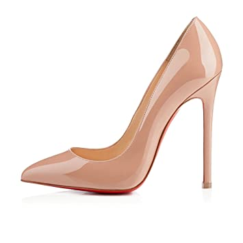 outlet store 82617 6e228 Christian Louboutin Pigalle 120mm Nude Patent Leather ...