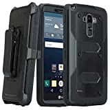 lg g pro 2 case - LG G Stylo Case, LG G Vista 2 Case, [Pro Guard Series] with Built-in [Screen Protector] Heavy Duty Full-Body Rugged Holster Case [Belt Swivel Clip][Kickstand] For LG G Stylo LS770/G Vista 2 (Black)