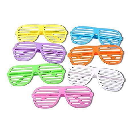 Schramm/® 6er Pack Partybrille metallic 6 Farben Partybrillen Bunt Gitterbrille Spa/ß Spass Brille Atzen Brillen Party Brille