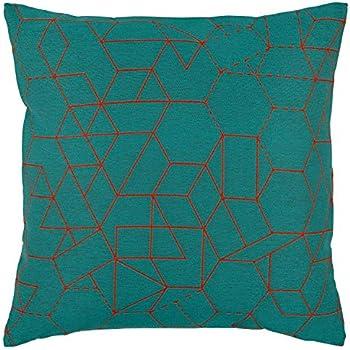 Rivet Modern Geometric Decorative Print Pillow Cover, 20