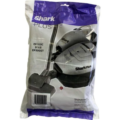 Euro-Pro Shark X10-3005 Micron Vacuum Cleaner Bags / 10 pack - Genuine w/Dust Seal + 2 Motor Filters ( 43-6372) (Euro Pro Manuals)