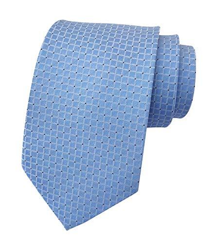 (Men Sky Blue Necktie Vintage Silk Cravat Woven Leisure Designer Solid Color Ties)