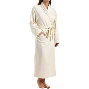 e66121d29c KayAnna Waffle Shawl Collar Spa Robe (S01156) S Lotus Pink at Amazon ...