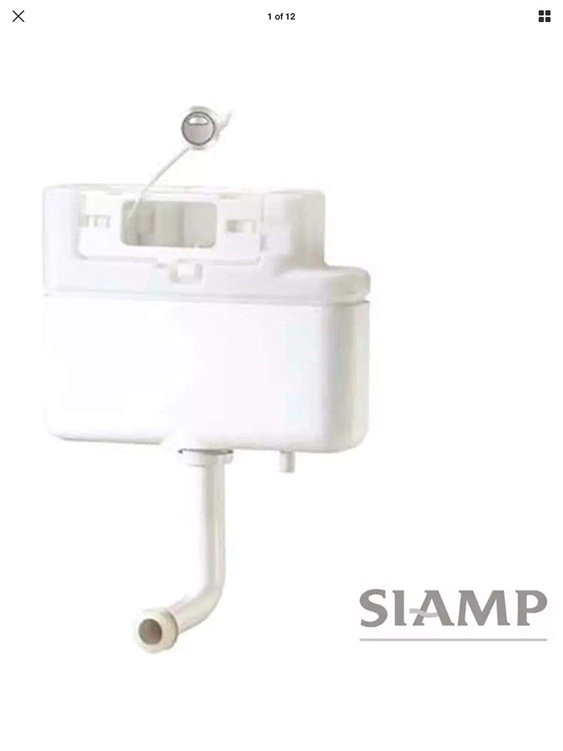 Siamp 31014710 Intra Cable Operated Concealed Cistern Bottom Inlet White