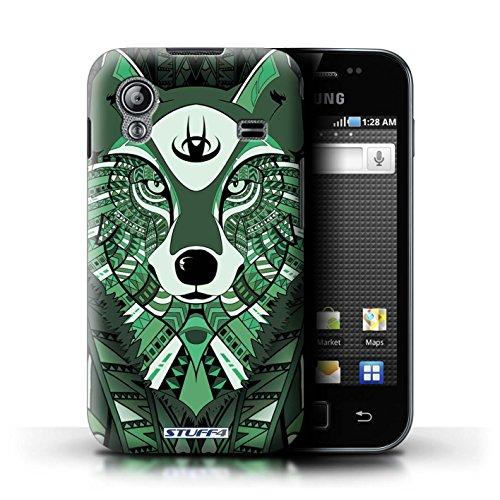 Stuff4 Hülle / Hülle für Samsung Galaxy Ace / Wolf-Grün Muster / Aztec Tier Muster Kollektion