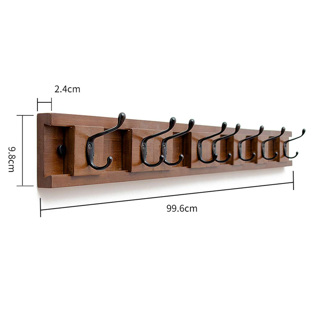 B 99.69.82.4 cm HHXD Household Wall Mounted Bamboo Coat Hook Coat rack Bedroom It Can Move Green Environmental Predection Hooks Strong Durable Moisture Proof B   86.8  9.8  2.4 cm