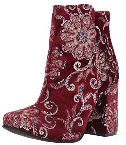 - Naughty Monkey Women's Scarlett Ankle Boot, Burgundy, 8.5 M US
