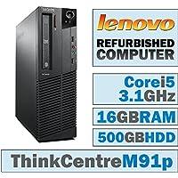 Lenovo ThinkCentre M91p SFF/Core i5-2400 Quad @ 3.1 GHz/16GB DDR3/500GB HDD/DVD-RW/No OS