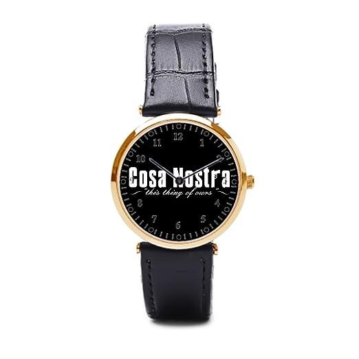 Cielo estrellado fdsafa mejores marcas reloj de pulsera reloj para hombre de piel, color marrón: Amazon.es: Relojes