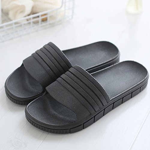 con elegante fankou home fresco Pantofole bagno 36 non antiscivolo slip una e estate da soggiorno maschio di scarpe coppie vasca nero una balneare indoor spiaggia 8zn8xrY
