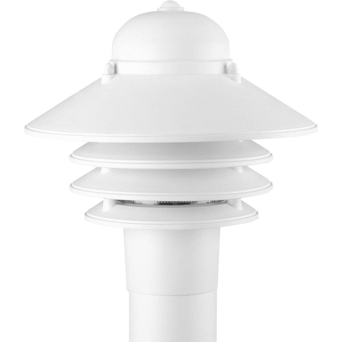 Progress Lighting P5444-30 Single-Light Plastic Post Mounted Fixture, White by Progress Lighting