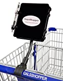 GuysShopper Black- All In 1 Shopping Organizer, 1 Clip On Any Shopping Cart handlebar, Holds any Size Smart Phone/List/Coupons/Pen, Hands Free for groceries/clothes/kids, Compact Storage In Auto/Home