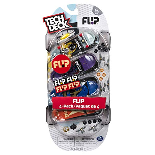 - Tech Deck Fingerboards 4 Pack - 96mm (Packs May Vary - Element, Flip, Blind)