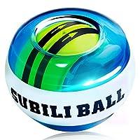 CAMORF Power Wrist Ball AUTO Start Wrist Exercises Force Ball -Shine Lightt Gyroscope Ball- Wrist& Forearm Exerciser - Arm Strengthener for Stronger Muscle and Bones