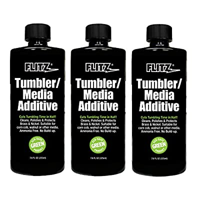 Flitz TA 04885-3A-3PK Tumbler Media Additive, 7.6 oz. Bottle, 3-Pack: Automotive