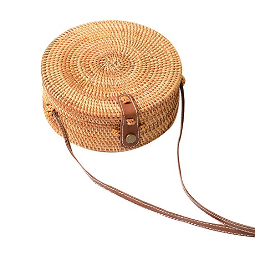 Crossbody Interlocking Purse Vintage Bag Bag Straw UNYU Clasp Sling Shoulder Handmade x6Uwnw0