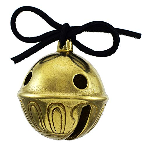 Jingle Bell Santa - Santa's Sleigh Bells Real Brass Christmas Polar Sleigh Bell Ornament, Jingle Express from Santa and His Reindeer at 5b
