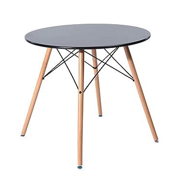 Fanilife 80 cm Salle à Manger Table Ronde Nouveau Style Moderne ...