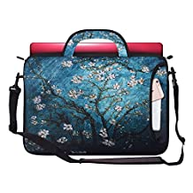 Zoresyn 15 15.6 inches Laptop Bag Shoulder Packs Notebook Case with Shoulder Strap and Portable Handle for Apple MacBook Pro/Dell/Lenovo/HP Samsung
