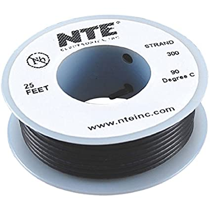 Gray 100/' Length Inc. 600V 100 Length Type 12 Gauge NTE Electronics WH612-08-100 Hook Up Wire Stranded