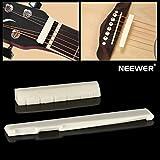 6 String Acoustic Guitar Bone Bridge Saddle and Nut Guitar Parts