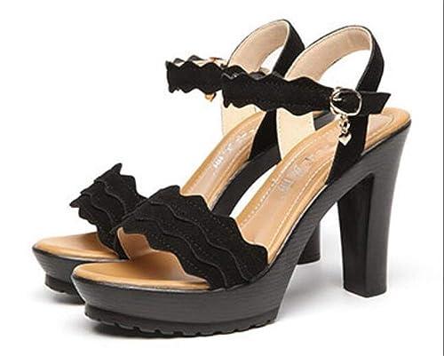 Brinley Co Womens Dune Faux Nubuck Open-Toe Laser-Cut Sandals